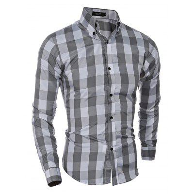 Men Standard-fit Long-sleeve Checked ShirtMens Shirts<br>Men Standard-fit Long-sleeve Checked Shirt<br><br>Material: Cotton, Polyester<br>Package Contents: 1 x Men Shirt<br>Package size: 40.00 x 30.00 x 3.00 cm / 15.75 x 11.81 x 1.18 inches<br>Package weight: 0.2700 kg<br>Product weight: 0.2200 kg