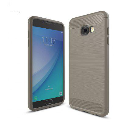 Buy GRAY Luanke Brushed Lines Case for Samsung Galaxy C5 Pro for $5.48 in GearBest store