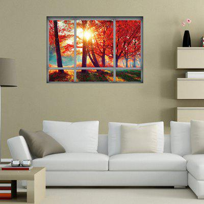 Fake Window Autumn Leaves Landscape Wall StickerWall Stickers<br>Fake Window Autumn Leaves Landscape Wall Sticker<br><br>Material: Vinyl(PVC)<br>Package Contents: 1 x Wall Sticker<br>Package size (L x W x H): 50.00 x 4.00 x 1.00 cm / 19.69 x 1.57 x 0.39 inches<br>Package weight: 0.1300 kg<br>Product size (L x W x H): 50.00 x 70.00 x 1.00 cm / 19.69 x 27.56 x 0.39 inches<br>Product weight: 0.1100 kg