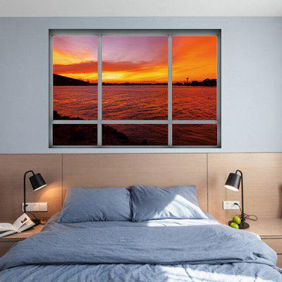 3D Fake Window Sunset Landscape Wall StickerWall Stickers<br>3D Fake Window Sunset Landscape Wall Sticker<br><br>Material: Vinyl(PVC)<br>Package Contents: 1 x Wall Sticker<br>Package size (L x W x H): 50.00 x 4.00 x 1.00 cm / 19.69 x 1.57 x 0.39 inches<br>Package weight: 0.1300 kg<br>Product size (L x W x H): 50.00 x 70.00 x 1.00 cm / 19.69 x 27.56 x 0.39 inches<br>Product weight: 0.1100 kg