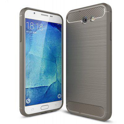 Buy GRAY Luanke Brushed Finish Soft Cover for Samsung Galaxy J7 for $5.76 in GearBest store
