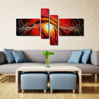 4PCS YHHP Canvas Oil Painting Abstract Hand Painted Home Decor