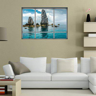 Buy COLORMIX 3D Thailand Scenery Landscape Window Wall Sticker for $6.49 in GearBest store