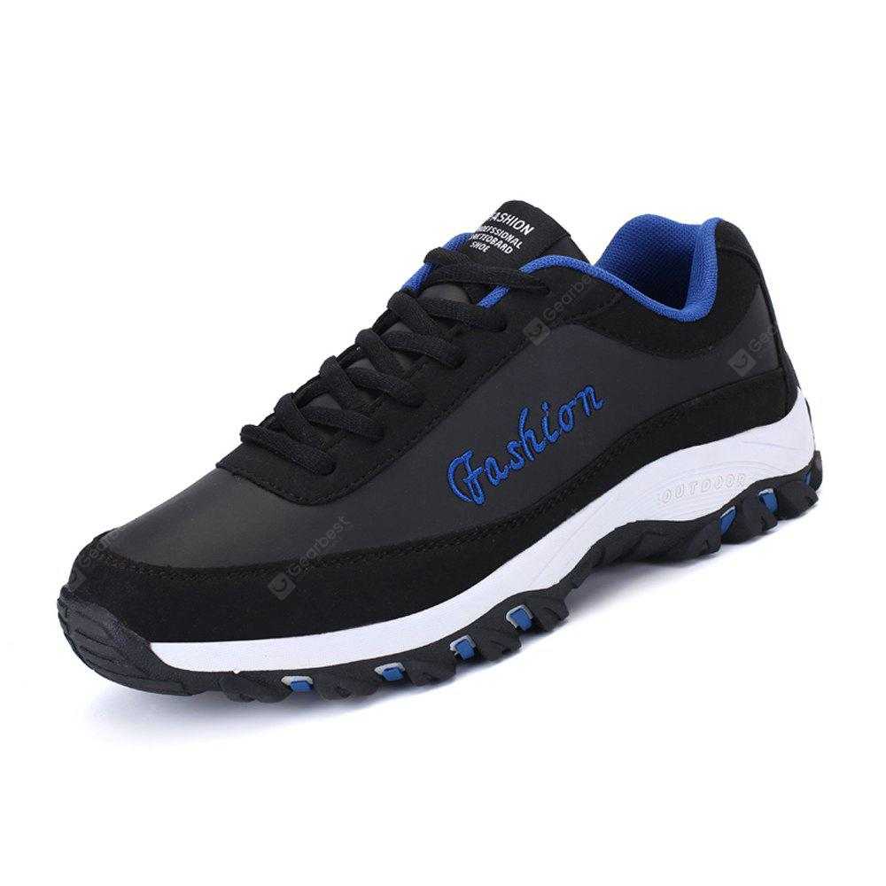 BLACK Thick Soles Leisure Shoes for Men