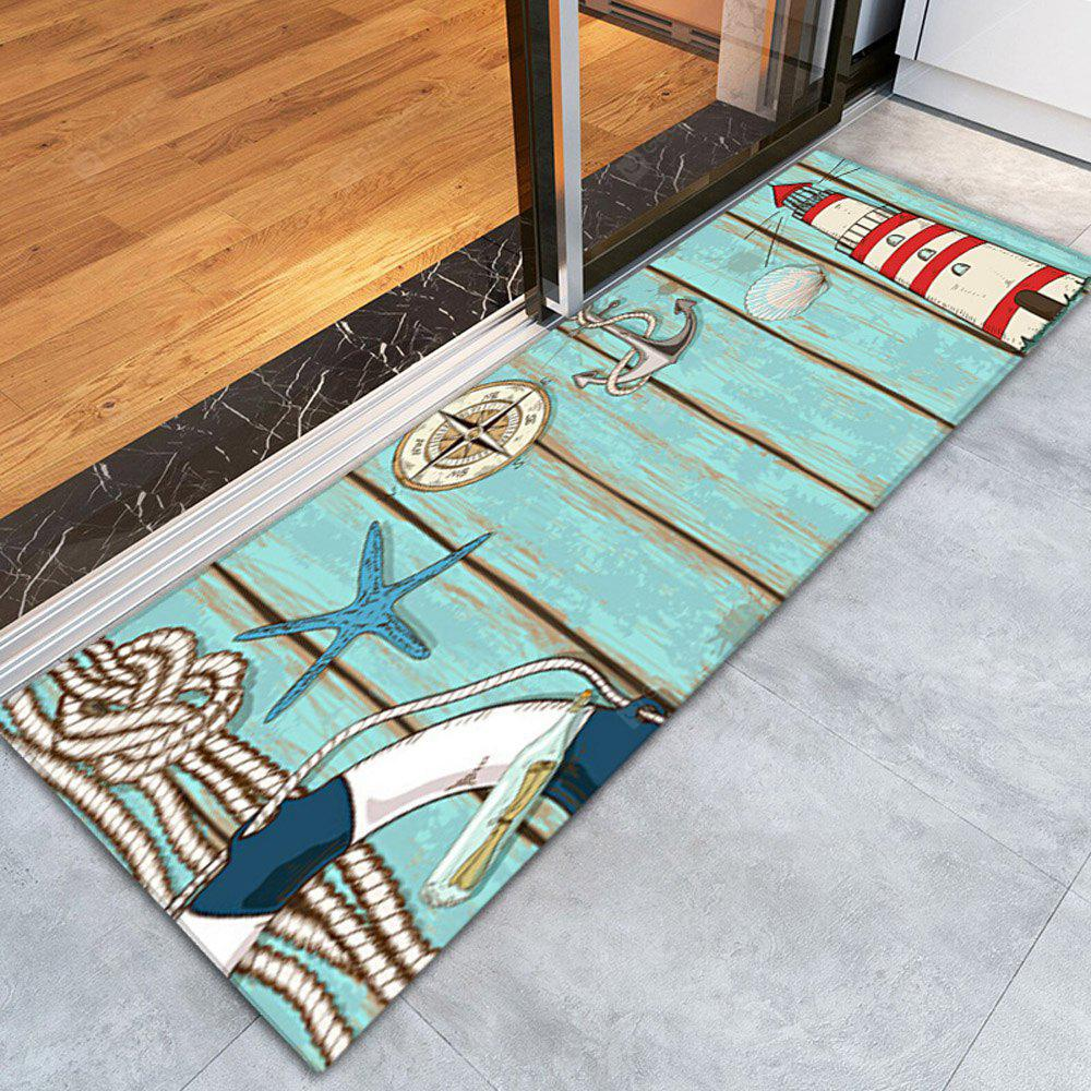 COLORFUL 3D Printing Lighthouse Pattern Non-Slip Floor Carpet