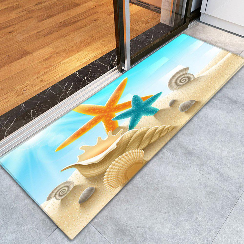 COLORFUL 3D Printing Amazing Starfish Pattern Non-Slip Floor Carpet