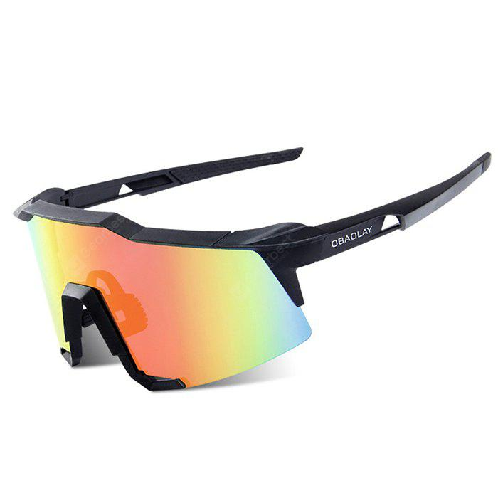 BLACK OBAOLAY S100 Protective Polarized Lens Cycling Glasses