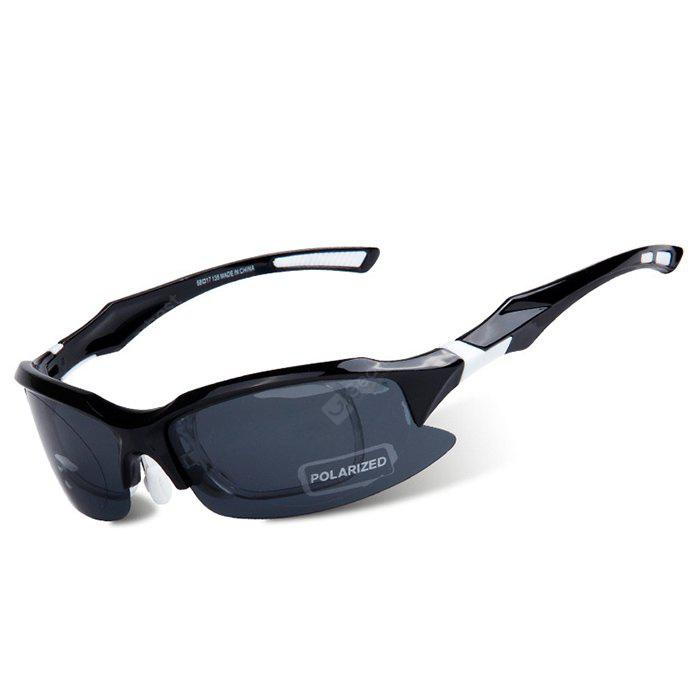 BLACK AND WHITE OBAOLAY SP0879 Protective Polarized Lens Cycling Glasses
