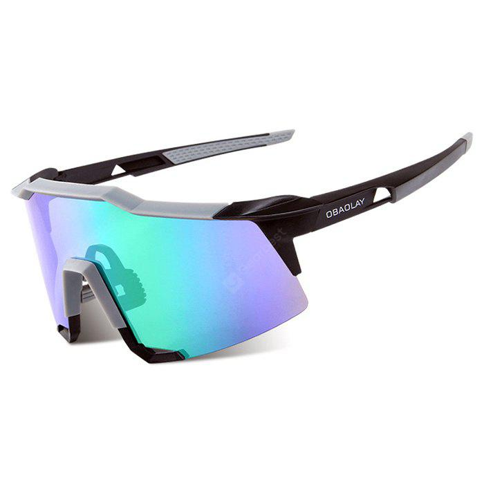 BLUE AND BLACK OBAOLAY S100 Protective Polarized Lens Cycling Glasses
