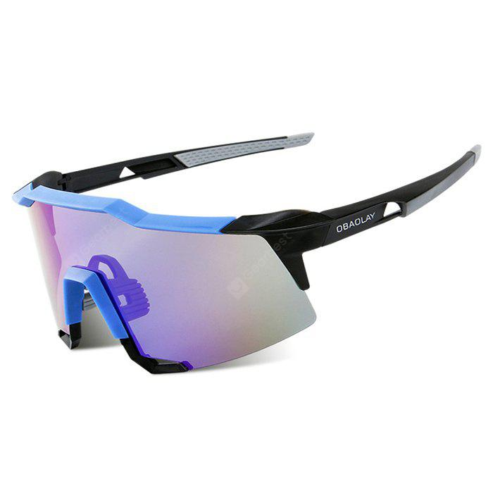 BLUE WITH BLACK OBAOLAY S100 Protective Polarized Lens Cycling Glasses