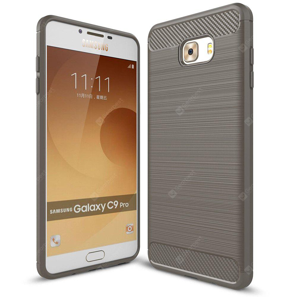 GRAY Luanke Brushed Line Case for Samsung Galaxy C9 Pro