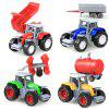 4pcs / set 1:64 Mini Farm Tractor - COLORMIX