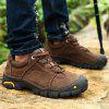 Genuine Leather Outdoor Hiking / Climbing Shoes for Men - DEEP BROWN