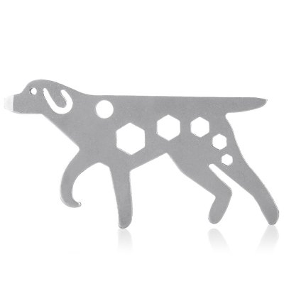 Portable Dog Shaped Stainless Steel Multifunctional EDC ToolMultitools<br>Portable Dog Shaped Stainless Steel Multifunctional EDC Tool<br><br>For: Cycling, Daily Use<br>Package Contents: 1 x Multifunctional EDC Tool<br>Package size (L x W x H): 12.00 x 5.00 x 1.00 cm / 4.72 x 1.97 x 0.39 inches<br>Package weight: 0.0500 kg<br>Product size (L x W x H): 8.50 x 4.20 x 0.20 cm / 3.35 x 1.65 x 0.08 inches<br>Product weight: 0.0220 kg<br>Type: Multitools