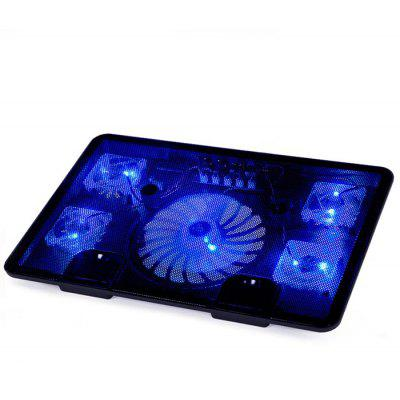 N5 5 Fans Laptop Cooling Pad Radiator Notebook Stand