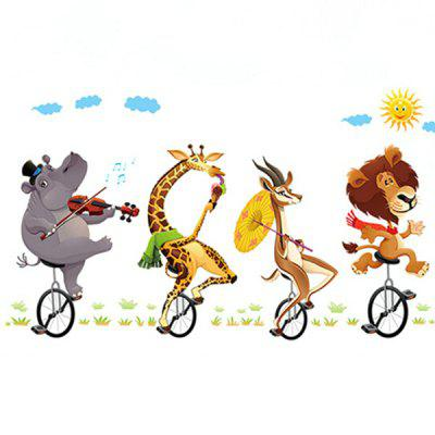 Cartoon Biking DIY Home Decor Wallpaper Wall Sticker