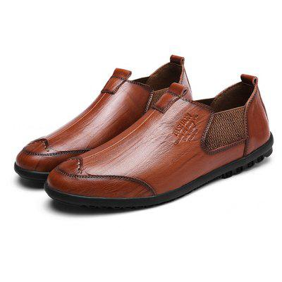 Stylish British Slip-on Leather Shoes for Men