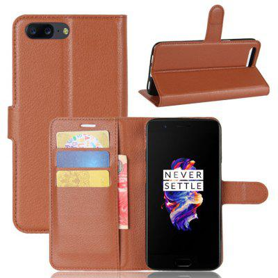 Protective Full Body Flip-open PU Leather Shell Case for OnePlus 5  with Stand Card Holder