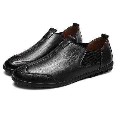Stylish British Slip-on Chaussures en cuir pour hommes