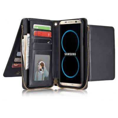 Retro Zipper Wallet Phone Cover Case for Samsung Galaxy S8