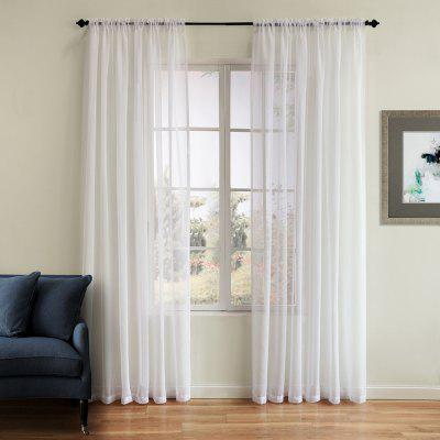 Polyester Plain Window Curtain 72W x 96L
