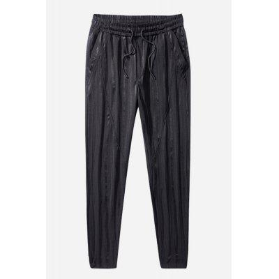 Buy BLACK Men Casual Leisure Sports Slim Thin Feet Pants for $25.85 in GearBest store