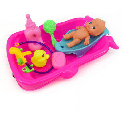 Baby Bathtub Bathroom Pretend Play Toy Set