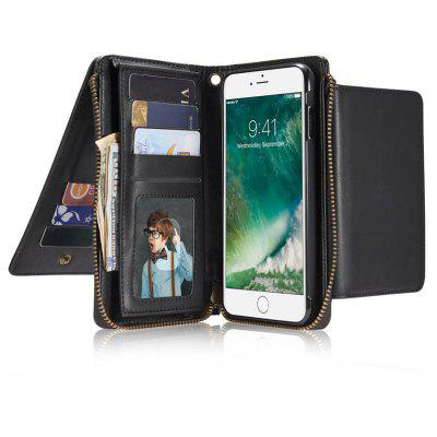 Retro Zipper Wallet Phone Cover Case for iPhone 7 Plus