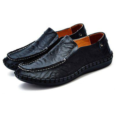 for sale footlocker geniue stockist Handcrafted Leisure Leather Shoes for Men clearance footaction best place sale online A7WHGjsJd