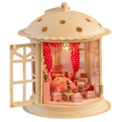 DIY Wooden Dollhouse Playset with LED Light
