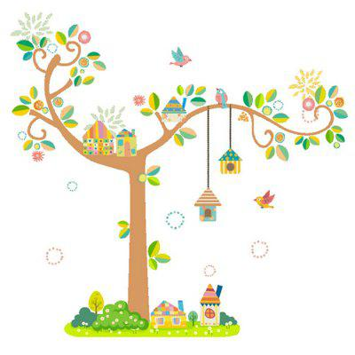 Buy COLORMIX DIY Cartoon Tree Removable Wall Sticker for $7.98 in GearBest store