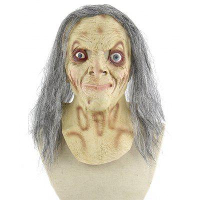 Scary Gray-haired Witch Mask