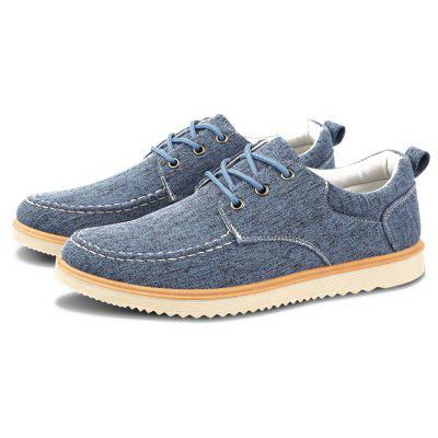 Men Fashion Lace-up Casual Skateboarding Shoes