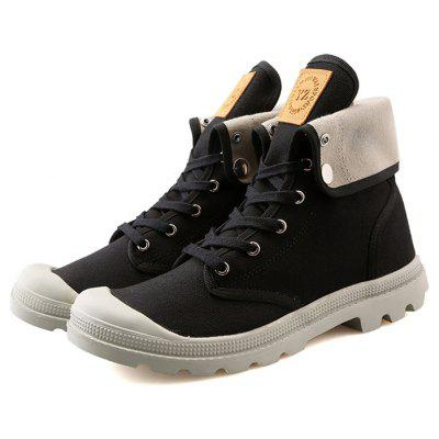 Men High Top Casual Canvas Shoes / Boots