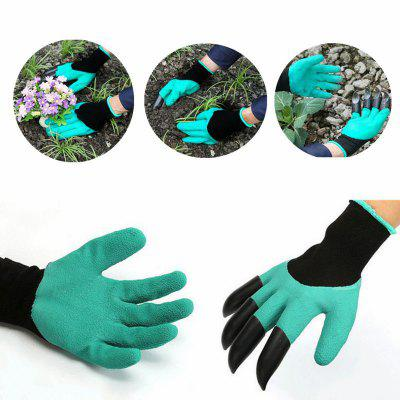 Paired Garden Safe Digging Gloves with Fingertips