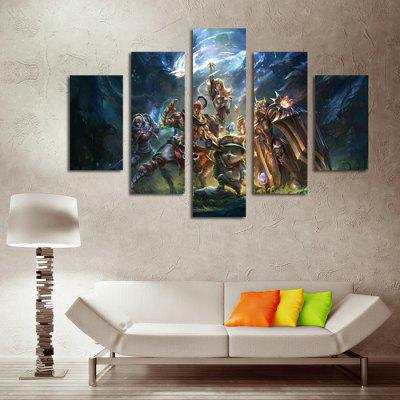 5PCS Game Characters Printed Canvas Wall Sticker