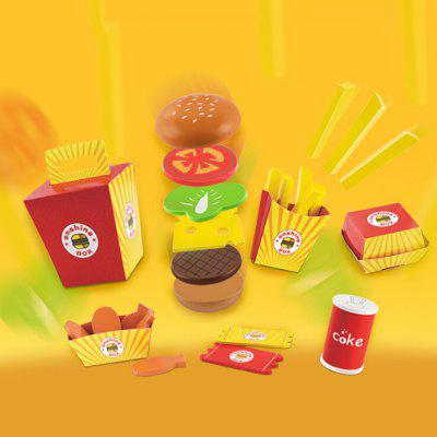 Wooden Fries Hamburger Combo Pretend Play ToyPretend Play<br>Wooden Fries Hamburger Combo Pretend Play Toy<br><br>Age: 3 Years+<br>Applicable gender: Unisex<br>Design Style: Other<br>Features: Educational<br>Material: Wood<br>Package Contents: 1 x Pretend Play Toy Set<br>Package size (L x W x H): 15.00 x 15.00 x 17.00 cm / 5.91 x 5.91 x 6.69 inches<br>Package weight: 0.6100 kg<br>Product weight: 0.5000 kg<br>Small Parts : Yes<br>Type: Kitchen Toys<br>Washing: Yes