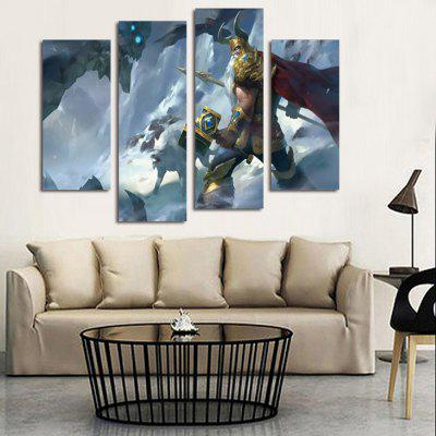 Modern Art Game Character Wall Decor PrintPrints<br>Modern Art Game Character Wall Decor Print<br><br>Craft: Print<br>Form: Four Panels<br>Material: Canvas<br>Package Contents: 4 x Print<br>Package size (L x W x H): 42.00 x 6.00 x 6.00 cm / 16.54 x 2.36 x 2.36 inches<br>Package weight: 0.4300 kg<br>Painting: Without Inner Frame<br>Product size (L x W x H): 120.00 x 80.00 x 0.10 cm / 47.24 x 31.5 x 0.04 inches<br>Product weight: 0.3400 kg<br>Shape: Horizontal Panoramic<br>Style: Modern<br>Subjects: Figure Painting<br>Suitable Space: Bedroom,Living Room
