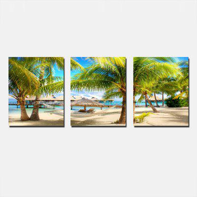 Coconut Tree Print Abstract Wall Decor for Home Decoration