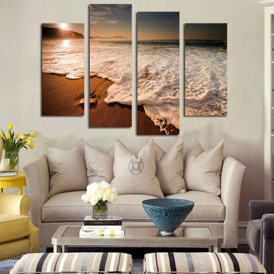 4PCS Beach Tide Printed Canvas Wall StickerWall Stickers<br>4PCS Beach Tide Printed Canvas Wall Sticker<br><br>Art Style: Oil Paiting<br>Functions: Decorative Wall Stickers<br>Hang In/Stick On: Bedrooms,Cafes,Hotels,Living Rooms,Offices<br>Material: Canvas<br>Package Contents: 4 x Beach Printed Canvas Wall Sticker Wallpaper<br>Package size (L x W x H): 42.00 x 6.00 x 6.00 cm / 16.54 x 2.36 x 2.36 inches<br>Package weight: 0.4000 kg<br>Product size (L x W x H): 120.00 x 80.00 x 0.10 cm / 47.24 x 31.5 x 0.04 inches<br>Product Type: Art Print<br>Product weight: 0.3400 kg<br>Subjects: Landscape
