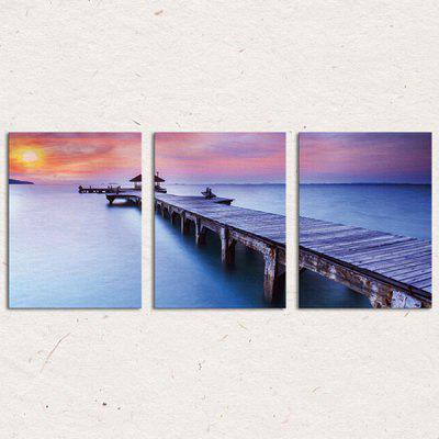 3PCS Bridge PVC Print Abstract Wall Decor for Home Decoration