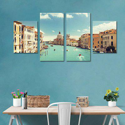 4PCS City of Venice Printing Wall Decoration