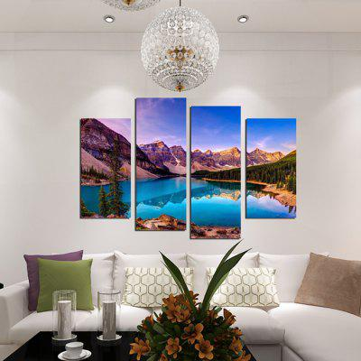4PCS Landscape Printed Canvas Wall Sticker