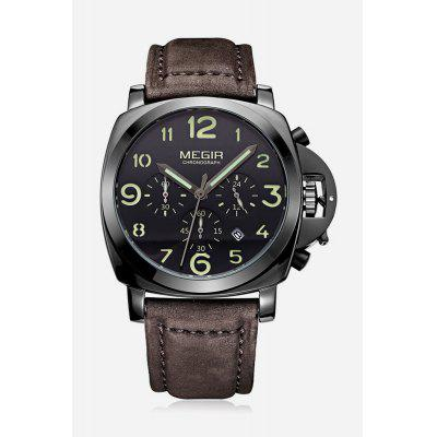MEGIR 3406 Date Function Men Quartz Watch Luminous PointerMens Watches<br>MEGIR 3406 Date Function Men Quartz Watch Luminous Pointer<br><br>Available Color: Black,Brown,Khaki<br>Band material: Genuine Leather<br>Brand: MEGIR<br>Case material: Stainless Steel<br>Clasp type: Pin buckle<br>Display type: Analog<br>Movement type: Quartz watch<br>Package Contents: 1 x MEGIR 3406 Watch<br>Package size (L x W x H): 23.00 x 5.40 x 2.70 cm / 9.06 x 2.13 x 1.06 inches<br>Package weight: 0.1400 kg<br>Product size (L x W x H): 22.00 x 4.40 x 1.70 cm / 8.66 x 1.73 x 0.67 inches<br>Product weight: 0.0900 kg<br>Shape of the dial: Round<br>Special features: Luminous, Moving small three stitches, Date<br>The band width: 2.4 cm / 0.94 inches<br>The dial diameter: 4.4 cm / 1.73 inches<br>The dial thickness: 1.7 cm / 0.67 inches<br>Watch style: Business<br>Watches categories: Male table<br>Water resistance: 30 meters