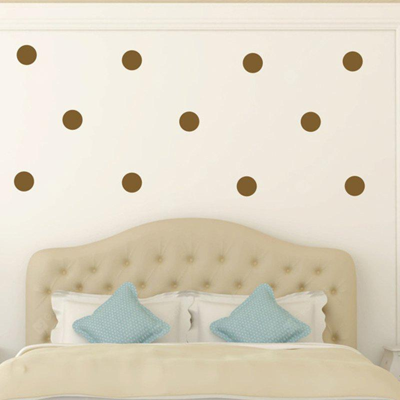 Buy AY - 366 Creative DIY Dot Style Decorative Wall Sticker 3BROWN