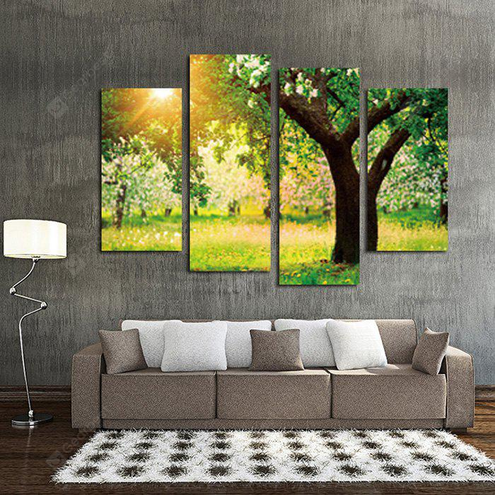 Sunset Tree Landscape Printed Canvas Wall Sticker COLORMIX