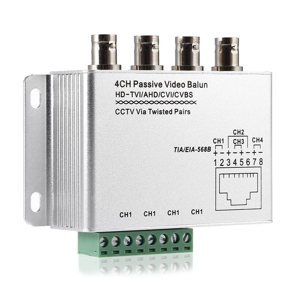 4CH AHD Passive Video Balun SILVER