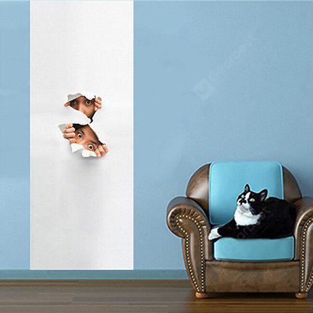 Peeping Child 3D Wall Sticker Fondo de pantalla