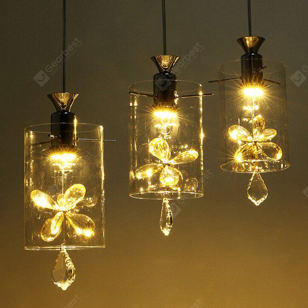 Three Head Iron Glass Rural European Pendant Light 220V