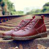 Men Genuine Leather Anti-slip Martin Boots - WINE RED